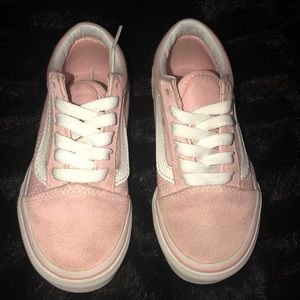 Dusty Rose Old Skool VANS! Kids Size 11c!